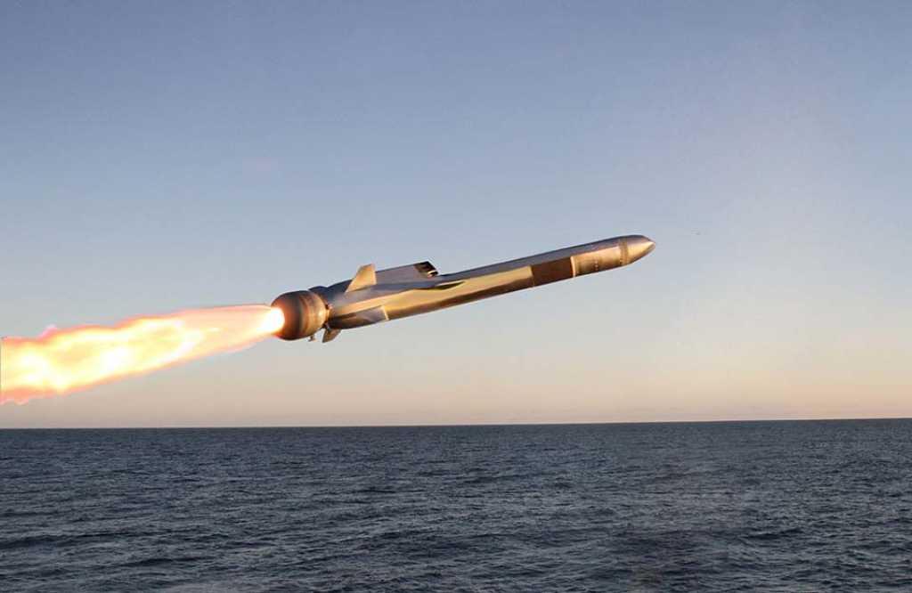 Oppskyting av missil. Foto